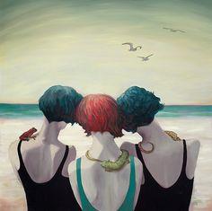 "amphibious by Anna Magruder | oil on canvas | 16"" x 16"""