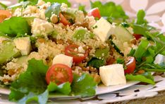 SUMMER AVO, FETA AND COUS COUS SALAD - A quick and easy side dish to serve with your braai and something different to your standard green salad!