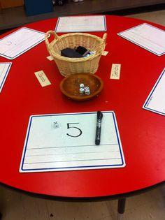 Roll And Write Numbers Discovery Bin Kindergarten Mathematical Kindergarten Classroom Layout, Numbers Kindergarten, Math Numbers, Preschool Centers, Preschool Classroom, Math Centers, Fun Math, Math Activities, Maths Eyfs