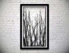 FRAMED Tree Branches Handmade Original Papercut: by DreamPapercut
