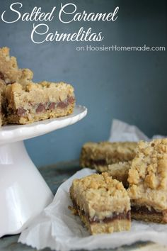 Salted Caramel Carmelitas | Recipe on HoosierHomemade.com