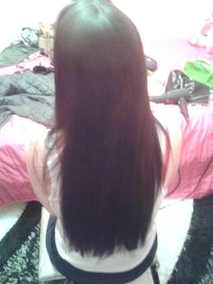 straightening my hair after 4 months ..worthed it!!