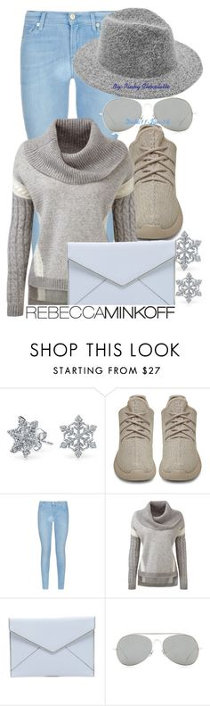 """#302 Serenity Snowy Day Outfit"" by pinky-chocolatte ❤ liked on Polyvore featuring Bling Jewelry, adidas Originals, 7 For All Mankind, Rebecca Minkoff, Acne Studios, women's clothing, women, female, woman and misses"