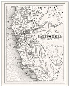 antique map of southern california - Google Search