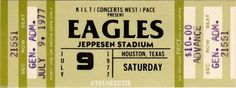 6 1973 77 The Eagles Vintage Unused Full Concert Tickets Scrapbooking Collect Eagles Tickets, Concert Tickets, Rock N Roll Music, Rock And Roll, Billet Concert, Mundo Musical, Bedroom Wall Collage, Wall Art, Ticket Design