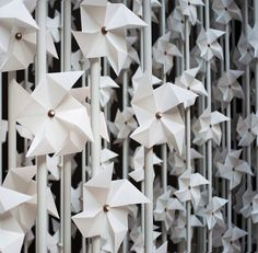 New Photos of The Wind Portal: Installation of 5,000 Paper Windmills - My Modern Metropolis