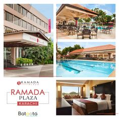Ramada Plaza based in Star Avenue Karachi is an exceptional and luxury hotel with high quality room service and facilities. Book now with Batoota for best rooms Pakistan Hotels, International Airport, Cool Rooms, Mansions, Detail, Luxury, House Styles, Book, Outdoor Decor