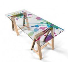 folie f r glastisch m bel wohnen tischfolien 317627. Black Bedroom Furniture Sets. Home Design Ideas