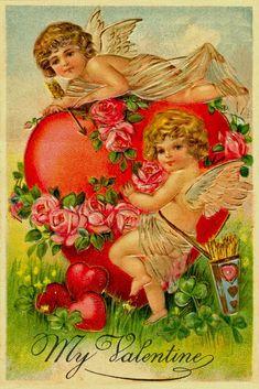 С Днем Святого Валентина! - старинные открытки. Обсуждение на LiveInternet - Российский Сервис Онлайн-Дневников