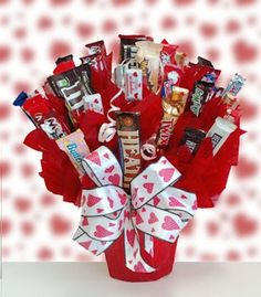 Valentine Classic Candy Bouquet from Holiday Gifts and Gift Baskets