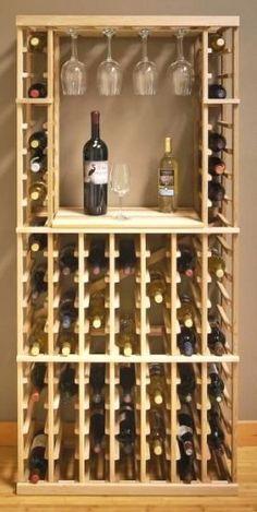 Build your own wine rack - 25 creative ideas- Weinregal selber bauen – 25 kreative Ideen Vinho, ripas de madeira - Diy Hat Rack, Hat Shelf, Wine Rack Design, Cellar Design, Wine Rack Plans, Regal Design, Wine Cabinets, Wine Storage, Diy Wine Racks