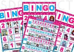 Monster High Bingo Game Monster High Activities by SDBDIRECT, $5.99