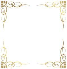 Transparent Decorative Frame Border PNG Image