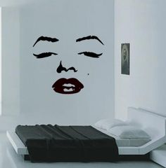 Marilyn wall art. Very cool, although it reminds me of something you'd see in a pimp's apartment.