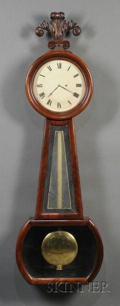 Mahogany Wall Regulator Clock