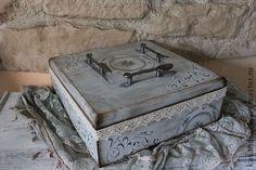 Винтажный Короб для хранения столовых приборов. Винтажный короб для хранения столовых приборов,техника декупаж,состаривание.