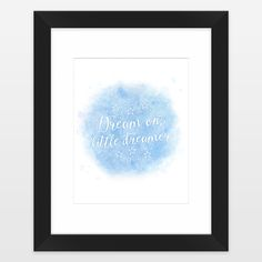 Fun Indie Art from BoomBoomPrints.com! https://www.boomboomprints.com/Product/noondaydesign/Dream_on_little_dreamer_color/Framed_Art_Prints/11x14_White_Mat_-_Black_Frame/