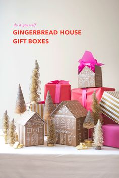 We shared the video on how we made our gingerbread house gift boxes and here is the original post for inspiration!