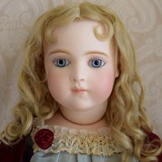 Breathtaking French Bisque Bru Brevete Doll in Antique Costume