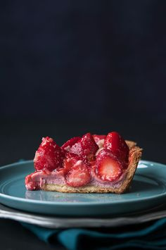 Fresh Strawberry & Cream Pie by hungryrabbitnyc #Pie #Strawberry