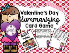 "Working on summarizing?  Want a card game with a fun Valentine's Day theme?  Want to teach how to summarize problem/solution texts?Have fun teaching summarization with the ""somebody-wanted-but-so-then"" strategy!Visual aid and review worksheet included!Using this activity:-Print cards and place them in a pile.-Students can take turns to pick a card, read or listen to the passage, and use the visual aid to summarize what they read/heard.-Once students respond correctly, they can hold onto…"