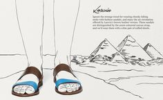 Lovely style mix (the way the ad is conceptualised... not the footwear itself!!)