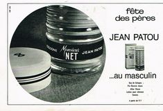 D- Publicité Advertising 1967 Eau de Cologne Monsieur Net Jean patou