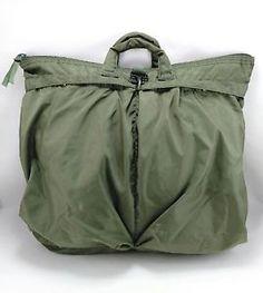 UNICOR GREEN Nylon Military Flyers Flight Helmet Bag Fighter Pilot Bag