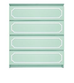 """Picture of Anne 6""""x29"""" O'verlays Kit for IKEA MALM (4 drawer)"""