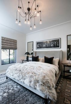 Transitional Bedroom Ideas - We have included so many bedroom designs currently and without a doubt, you still such as to see more due to the fact that we never ever get sufficient of bedroom interior design ideas that . Dream Rooms, Dream Bedroom, Home Bedroom, Bedroom Ideas, Bedroom Black, Bedroom Inspiration, 1920s Bedroom, Taupe Bedroom, Fancy Bedroom