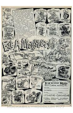 New Hot Rod Poster 11x17 Ed Roth Ad Weird-o T Shirts Rat Fink 1964 monster
