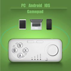 Universal Newest Bluetooth Game Controller Gamepad Selfie Shutter for iOS Android iPhone Samsung iPad Windows PC Green