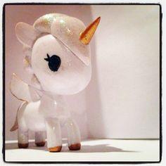 Hand-painted tokidoki unicorno - So glittery and sweet! <3 <3