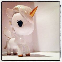 Hand-painted tokidoki unicorno - So glittery and sweet! <3 <3