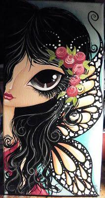 Make Art & Live Happy: new paintings & prints Art Pop, Fantasy Kunst, Fantasy Art, Art And Illustration, Whimsical Art, Face Art, Doodle Art, Art Girl, Painting & Drawing