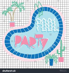 Pool Party Invitations, Invitation Cards, Pool Fun, Cool Pools, Templates, Illustrations, Artists, Stencils, Vorlage