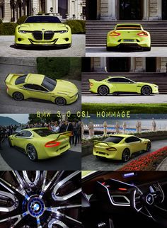 BMW 3.0 CSL Hommage - Presented at 2015 Concorso d'eleganza Villa D'Este (Italy). This model is the BMW Design Team's tribute to the 3.0 CSL, a legendary BMW Coupé from the 1970s. Stunning beauty, raging power, pure timeless classic.