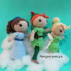 Disney Peter Pan Wendy Darling Tinker Bell by Amigurumi4u on Etsy