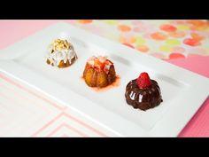 MINI BUNDT CAKES (Banana Nut Rum, Strawberry Lemonade, & Chocolate Ganache) - http://www.bestrecipetube.com/mini-bundt-cakes-banana-nut-rum-strawberry-lemonade-chocolate-ganache/