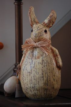 paper bunny. So sweet and cute!