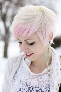 Pink and Platinum pixie - brb bleaching the crap outta my hair again.