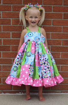 Patchwork twirly dress