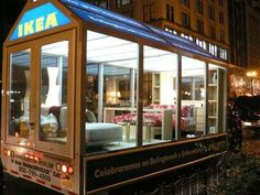 What a great idea for a mobile ad / billboard for Ikea... great visual and appeal.