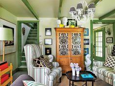Eclectic Living Room  - HouseBeautiful.com