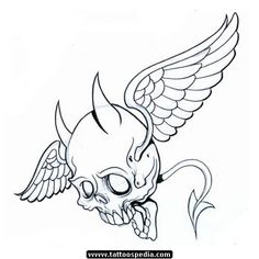 Skull Tattoo Clipart devil 3 - 500 X 500 Skull Stencil, Tattoo Stencils, Skull Art, Skull Tattoo Design, Skull Tattoos, Tattoo Designs, Tattoo Ideas, Tatoos, Angel Devil Tattoo