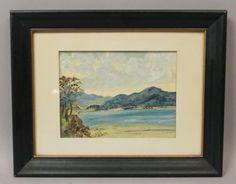 Estate-Found-EI-Bryce-Irish-Ireland-Landscape-Seascape-Oil-Painting-Signed