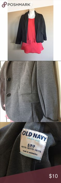 Soft gray blazer Size small. Fits an xs. Old navy. NWOT. New without tags. No swaps Old Navy Jackets & Coats Blazers