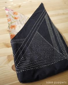 Ah, sashiko for Spring. This is a bag pattern I reverse-engineered from a cotton gift bag I received while living in Japan. It was given to me while staying at a ryokan, so you can carry a few belo...