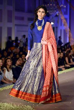 A model showcasing Manish Malhotra's collection. The show was a spectacle of #Indian Sensibility curated in #modern cuts.