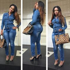 Rich Ugandan Sugar Mummy Online is searching for a matured and intellectual young man who is humble and honest to be her companion. Denim Outfit For Women, Cute Outfits With Jeans, Casual Work Outfits, Curvy Outfits, Urban Outfits, Chic Outfits, Clothes For Women, Black Girl Fashion, Dope Fashion
